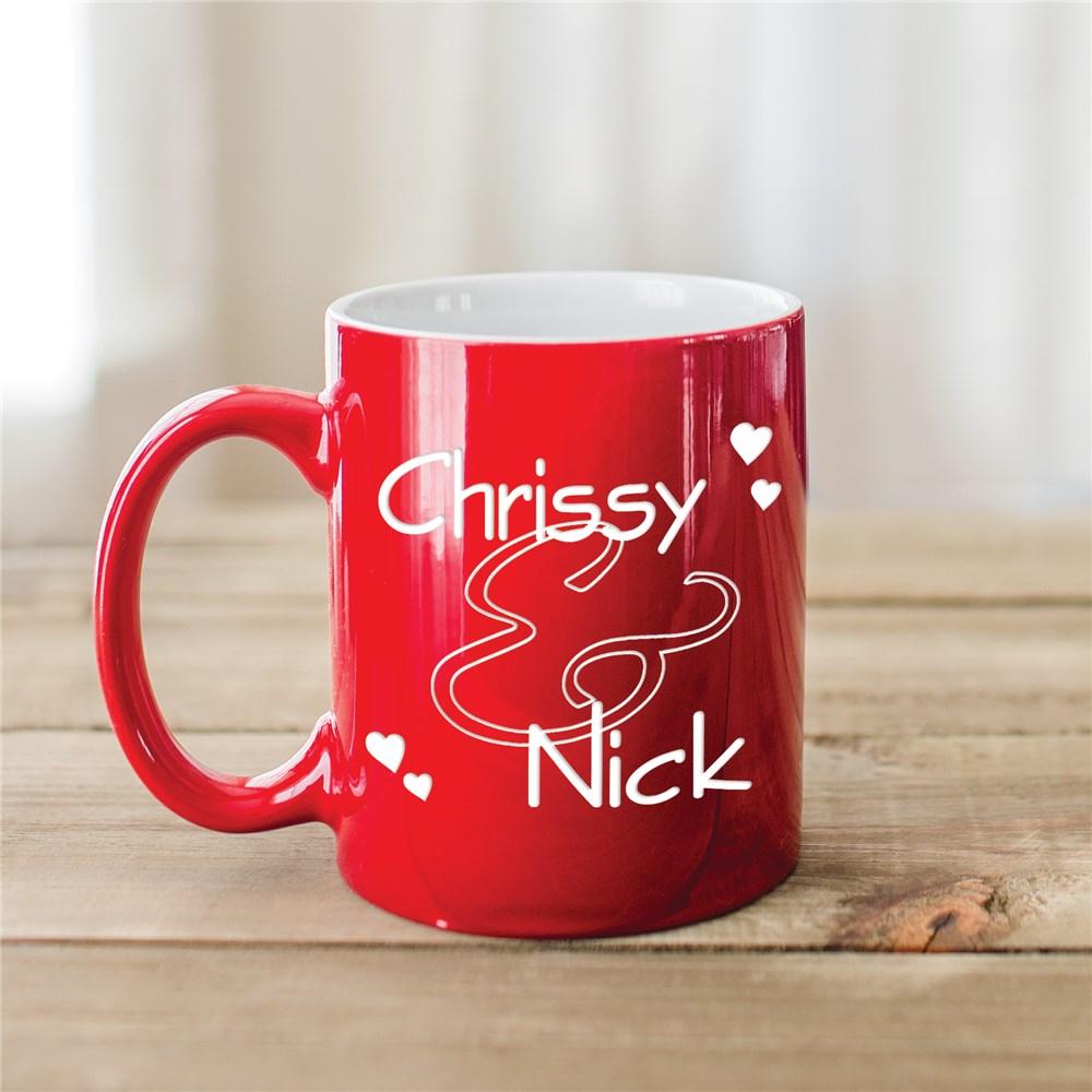 Mug personnalisé pour la Saint Valentin.