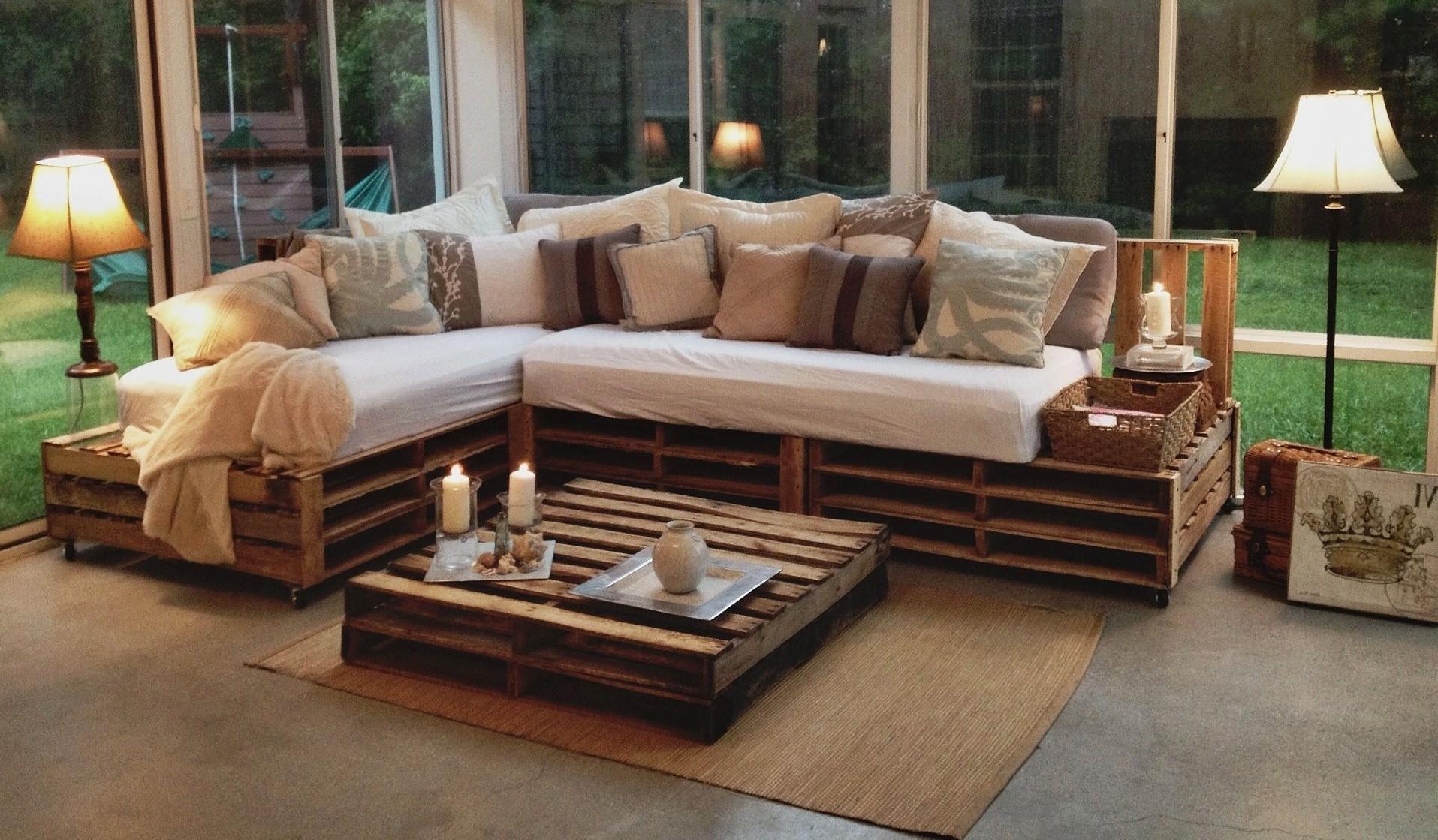 Plan de salon de jardin en palette DIY.