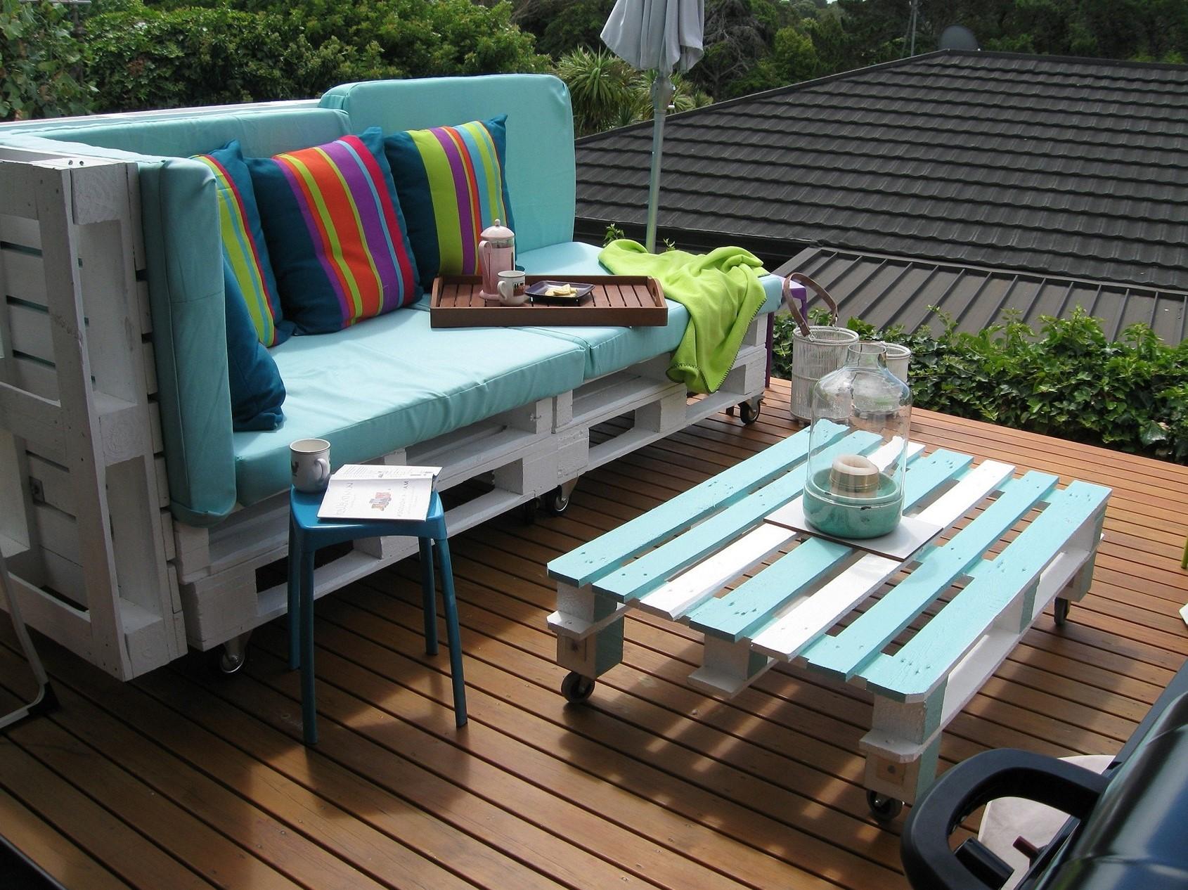 Plan de salon de jardin en palette.