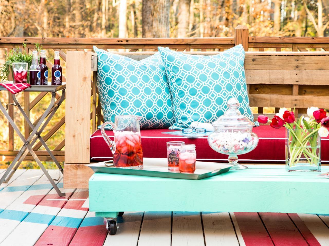 Mobilier en palette bricolage pour votre jardin.