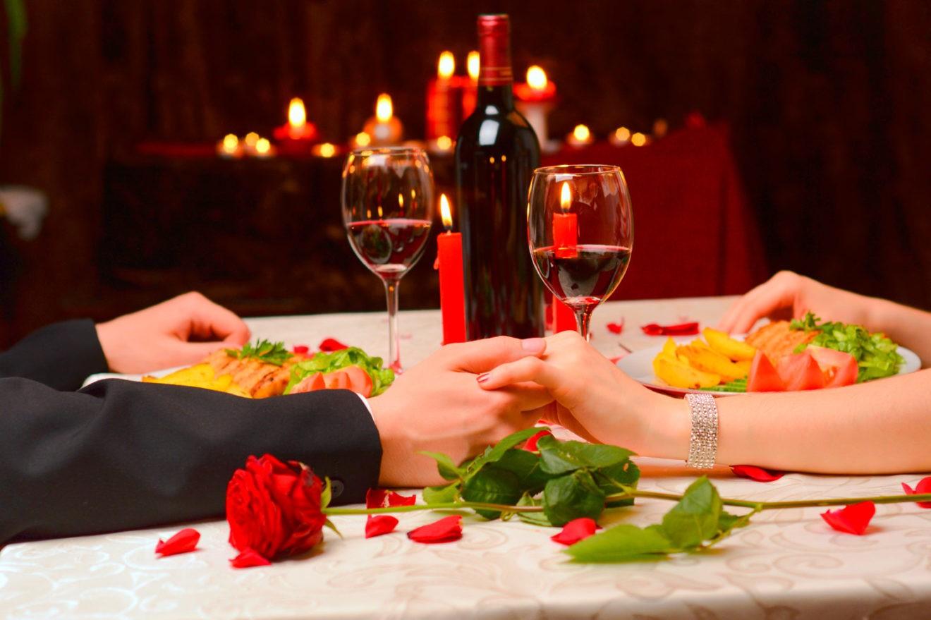 Ambiance romantique pour la Saint Valentin.