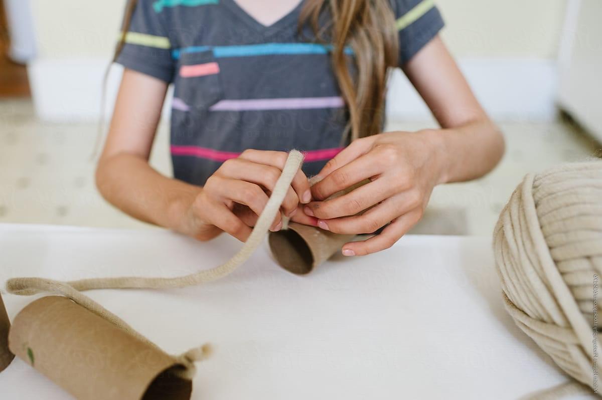 Bricolage en rouleau de papier toilette.