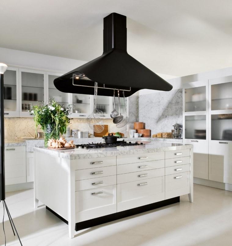 Cuisine moderne en noir et blanc