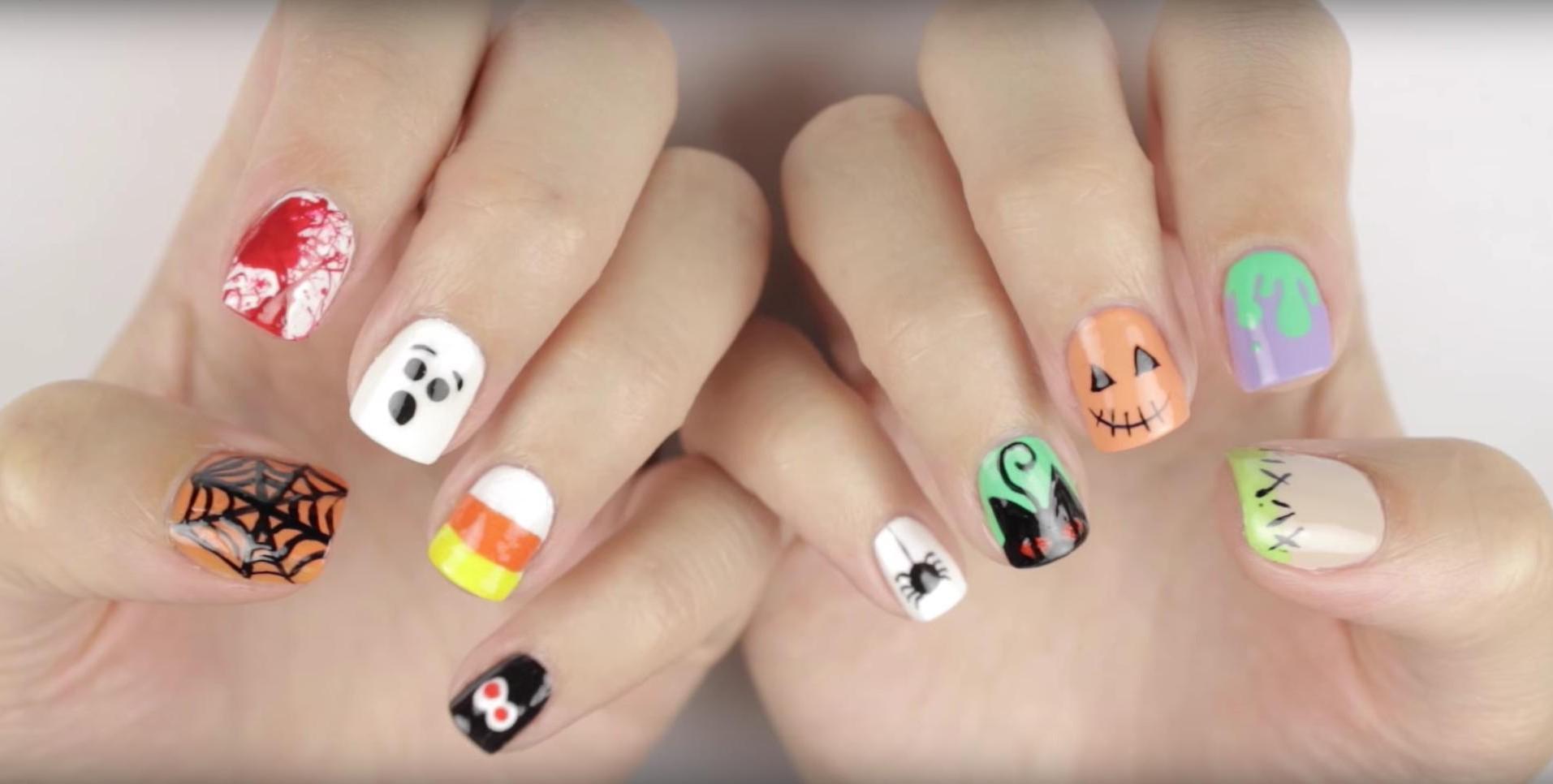 Déco d'ongles pour Halloween.