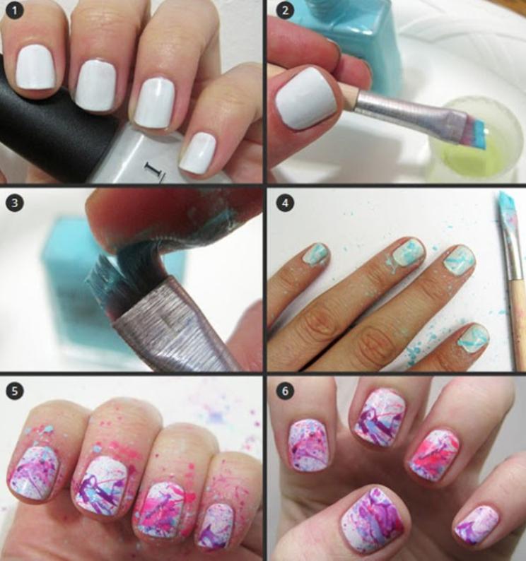 Déco d'ongles facile à faire.