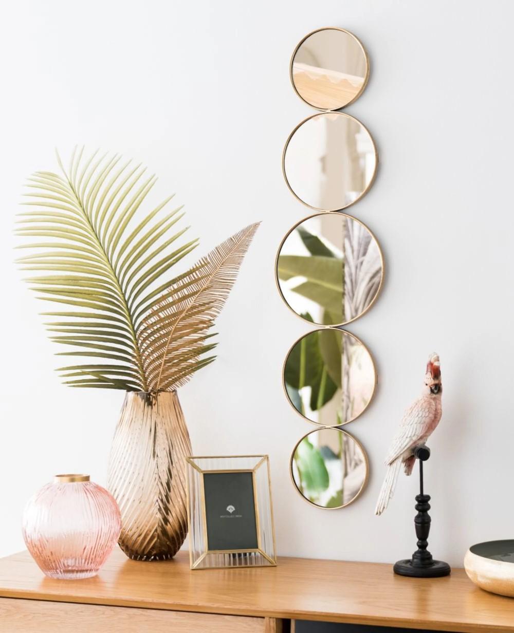 """Déco murale """"Maison du Monde"""" - miroir en cinq parties"""