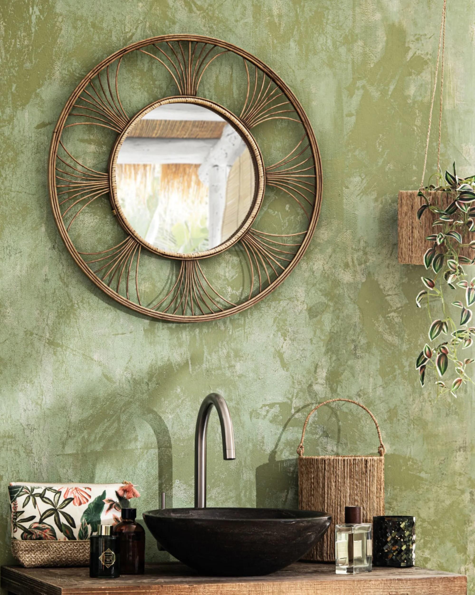 Déco murale Maison du Monde - miroir rond
