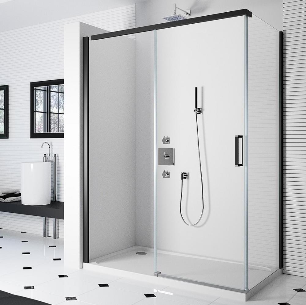 Cabine de douche moderne et élégante.