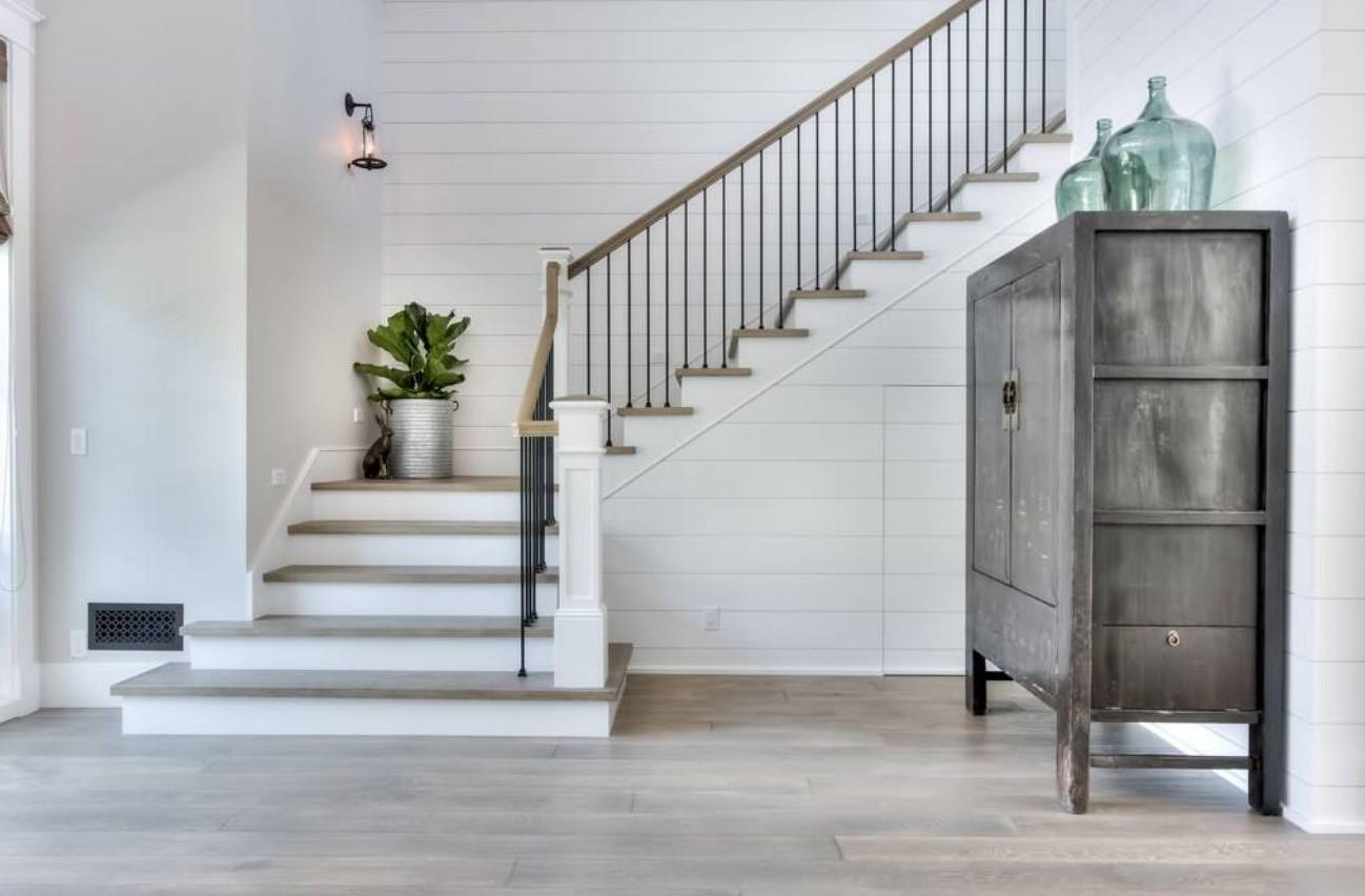 Escalier quart tournant.