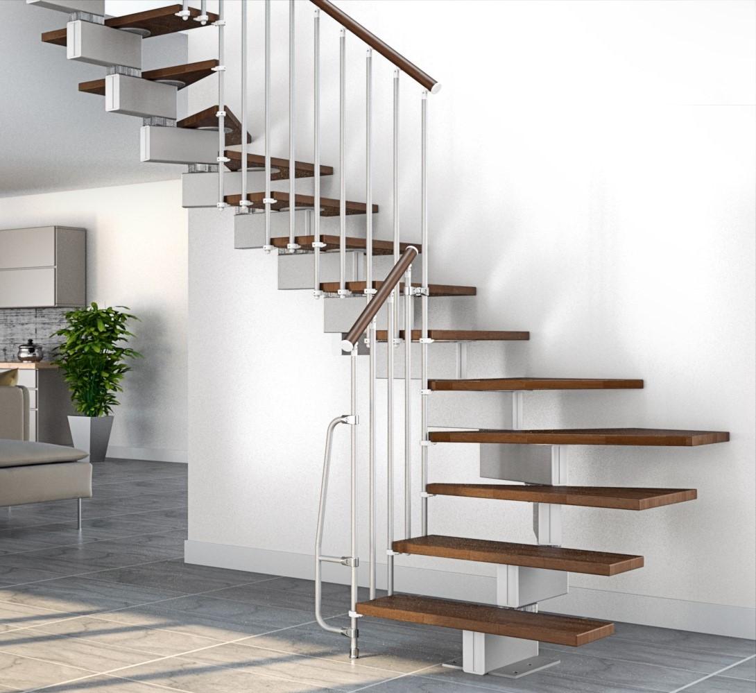 Escalier quart tournant moderne.