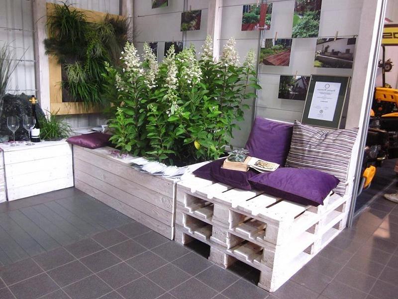 Une idée unique pour meubler une terrasse en palettes