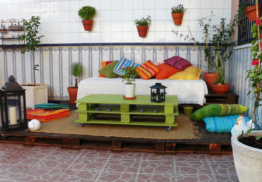 Une nouvelle idée pour meubler une terrasse de palettes