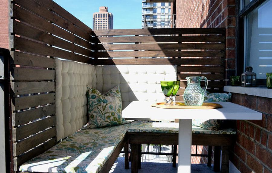 Couvrir une terrasse de palettes