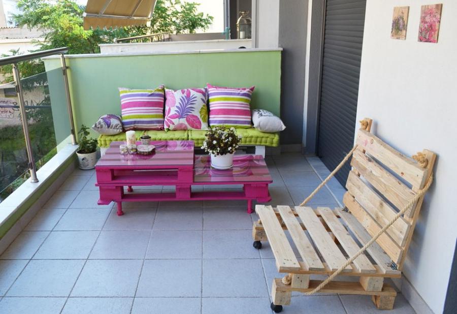 Décoration colorée pour la terrasse