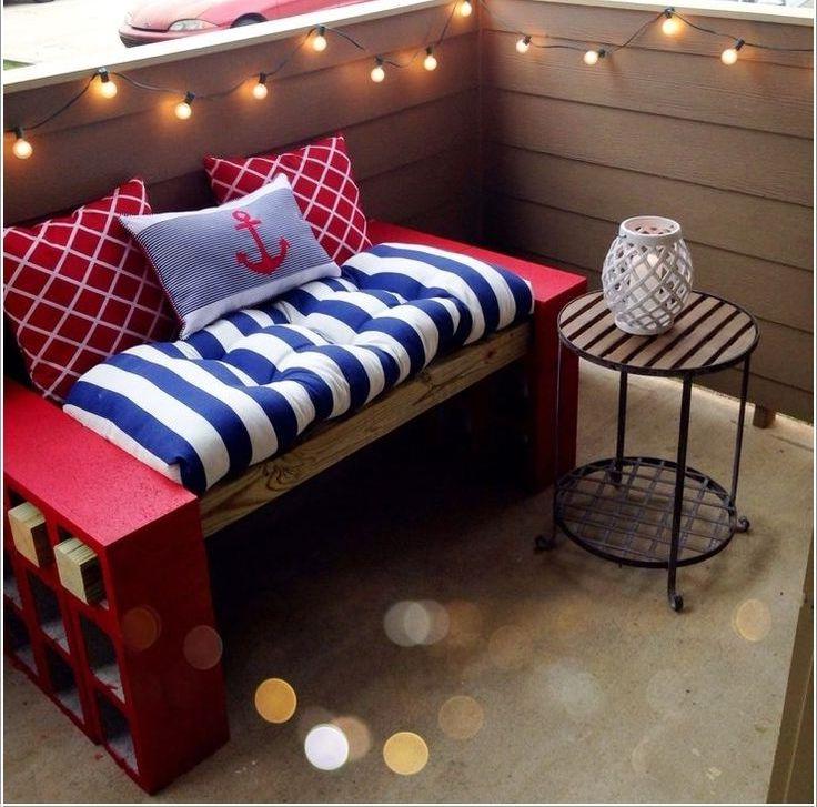 Canapé palette sur terrasse