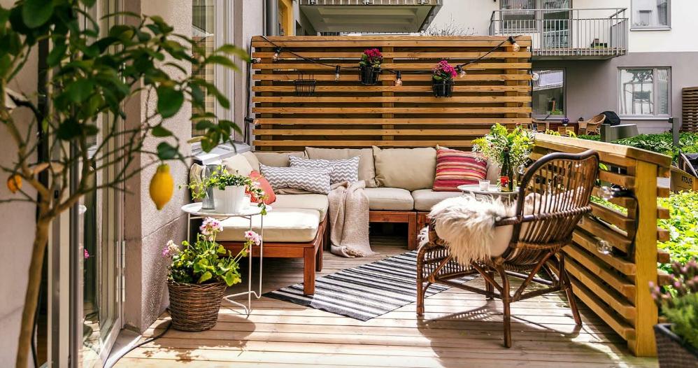 Barrière en terrasse à palettes