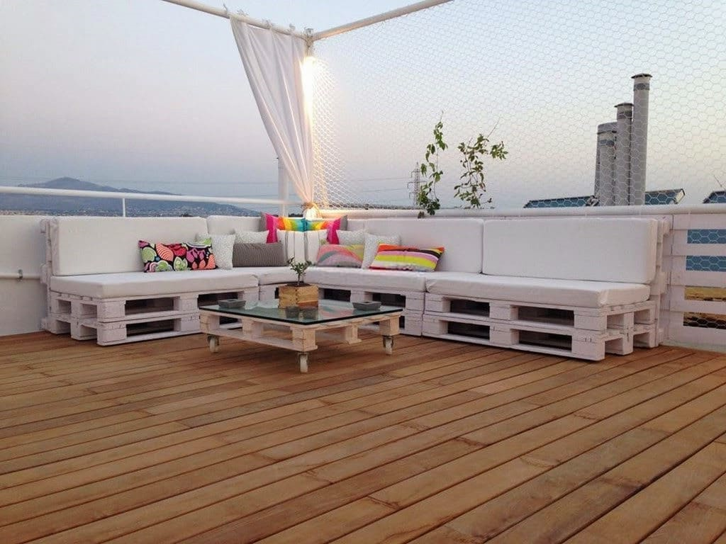 Une bonne idée pour meubler une terrasse en palettes