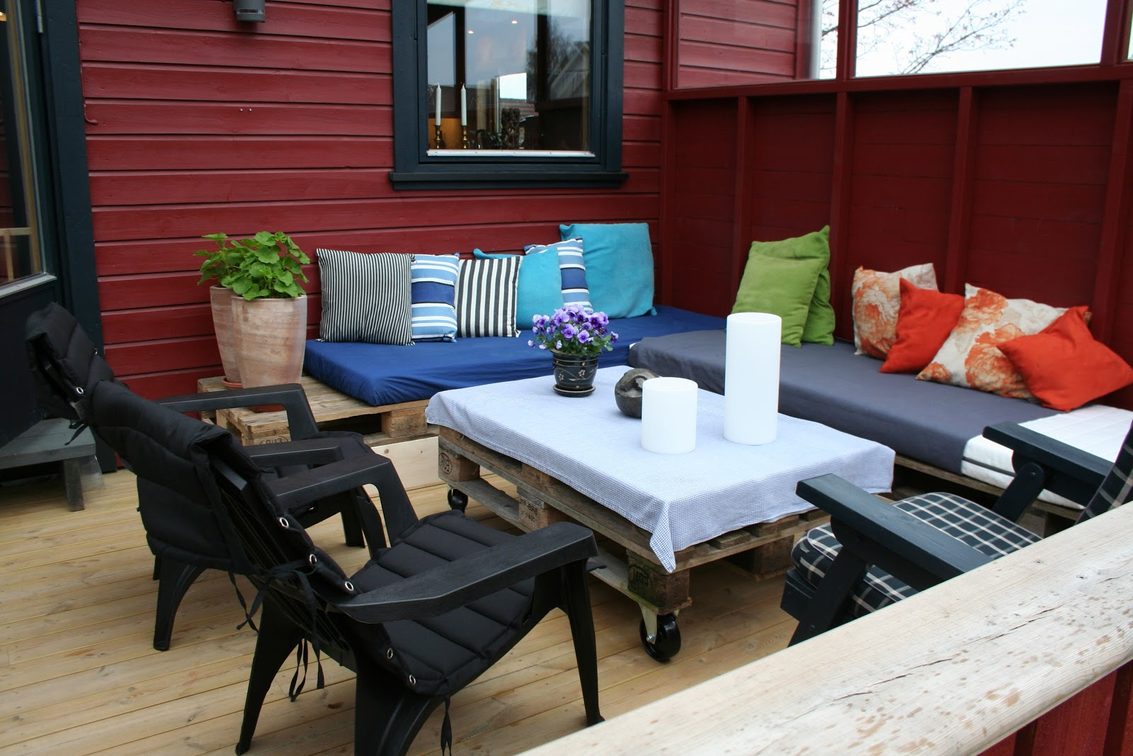 Décoration élégante pour la terrasse