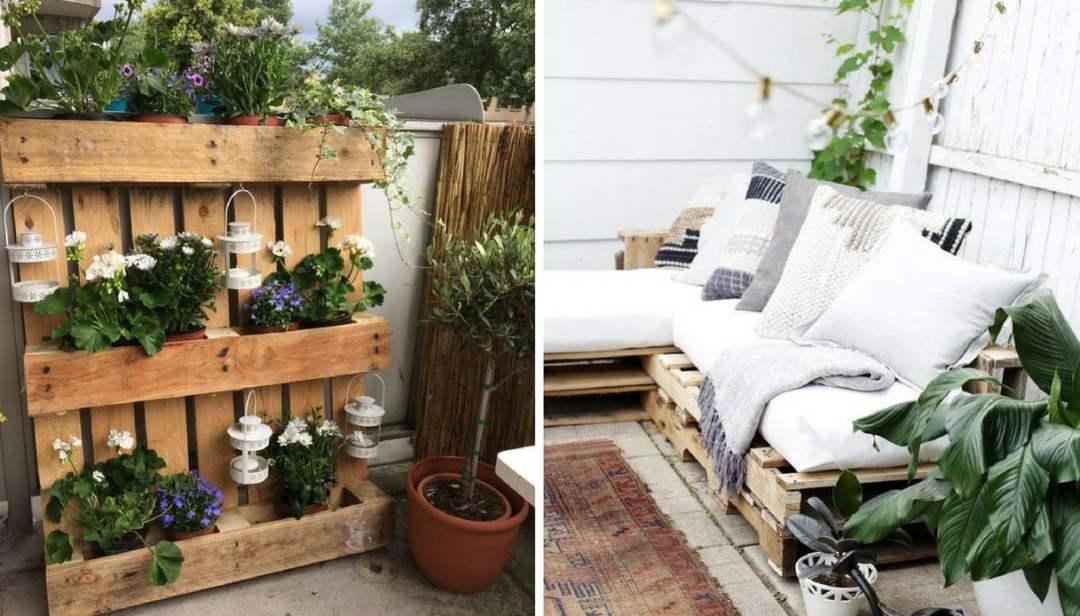Deux idées pour meubler une terrasse de palettes