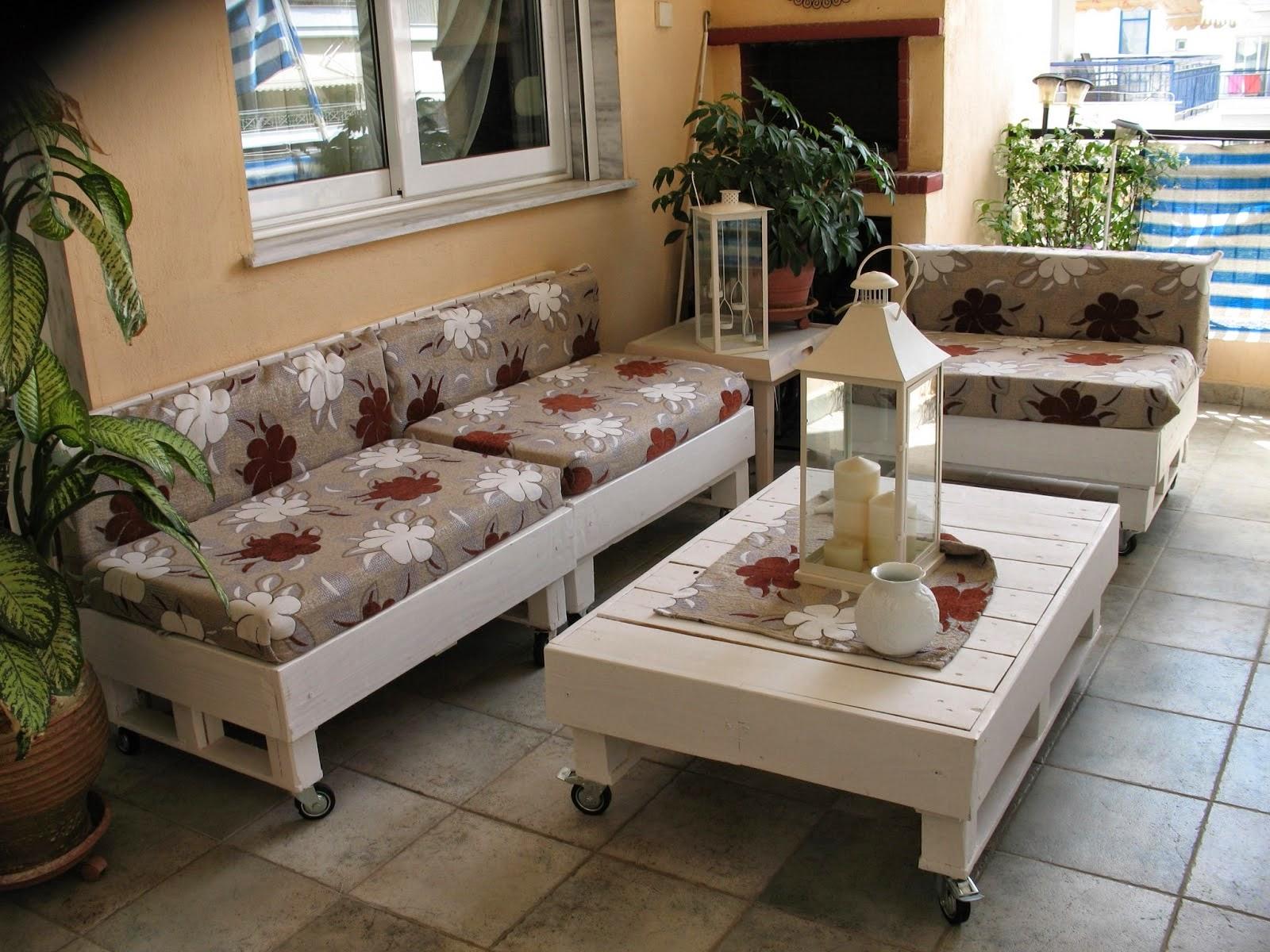 Meubles de palettes pour la terrasse