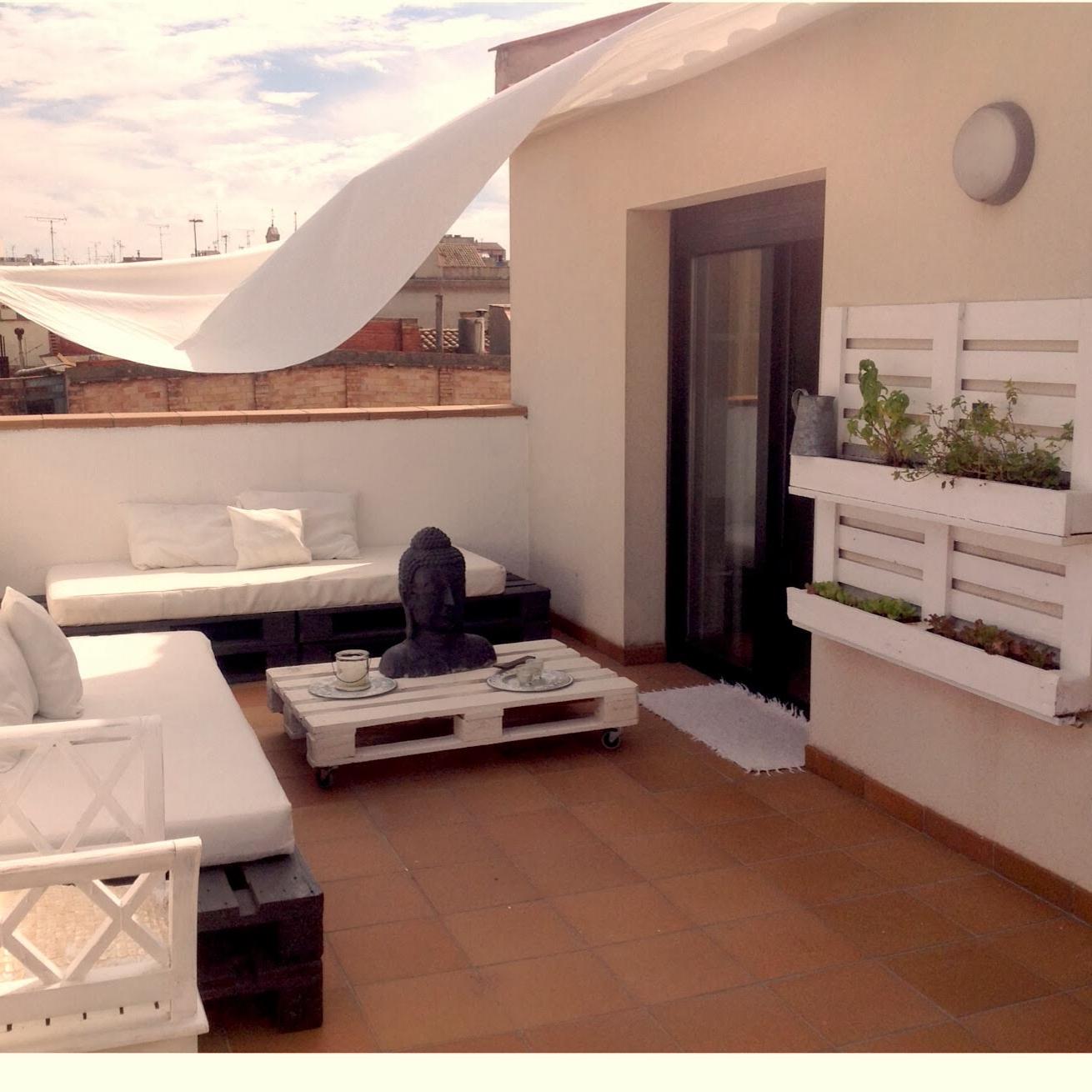 Ameublement d'une terrasse de palettes