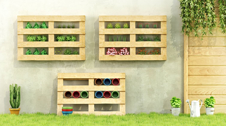 Mur végétal économique et créatif.