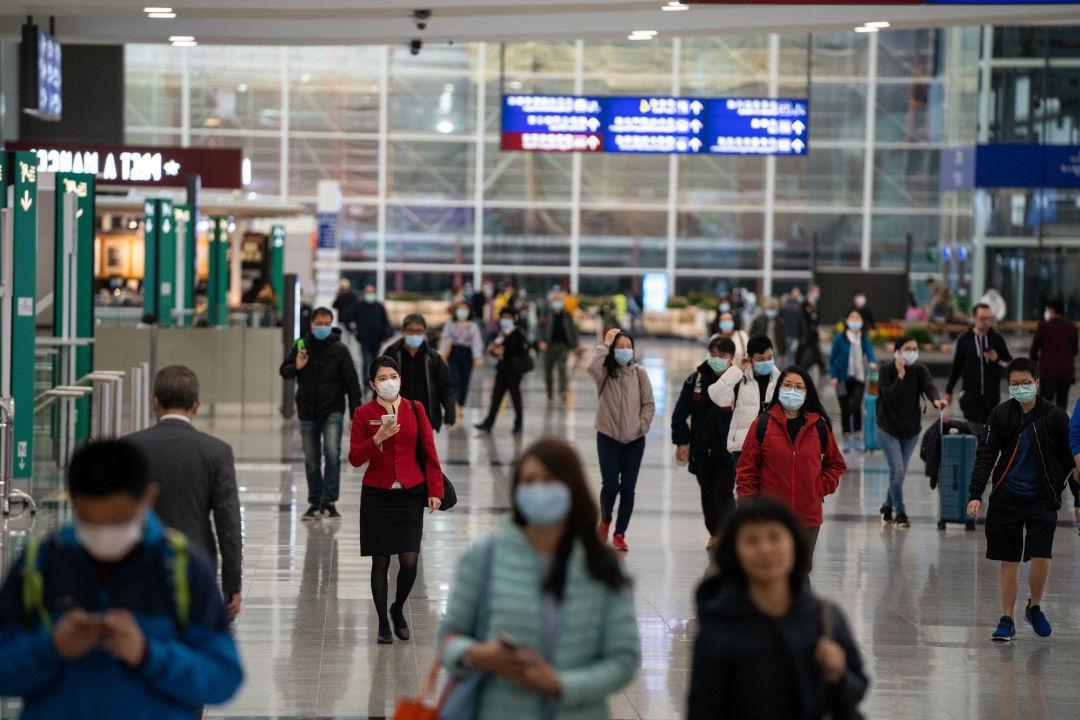 Un aéroport en Chine pendant l'épidémie de coronavirus