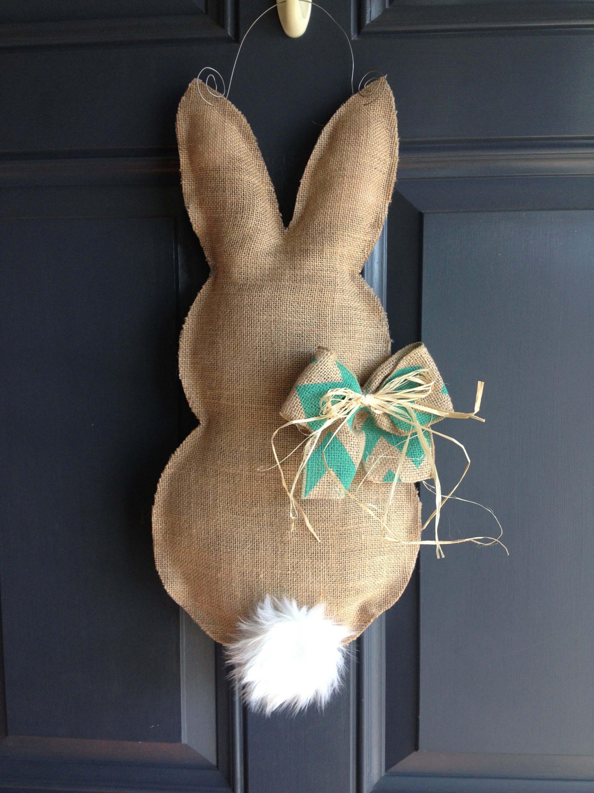 Lapin DIY comme décoration festive.
