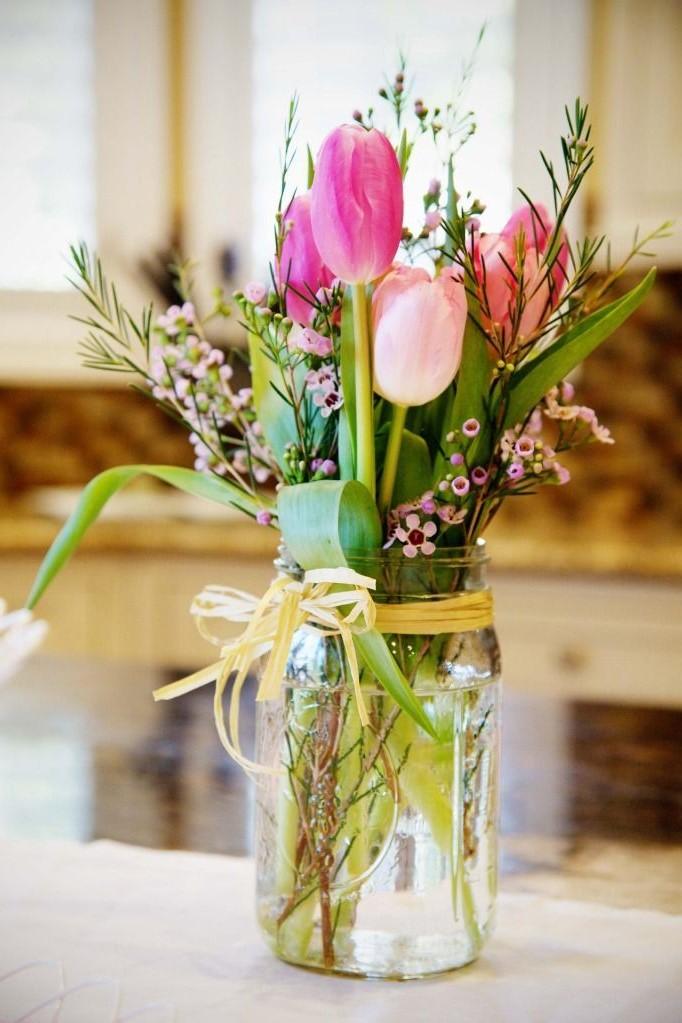 Bouquet de tulipes fraîches.
