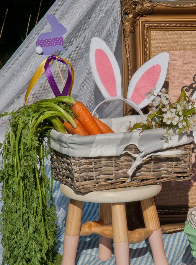 Carottes comme décoration pour Pâques