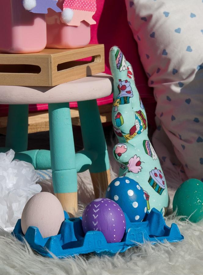 Oeufs décorés pour la décoration de Pâques