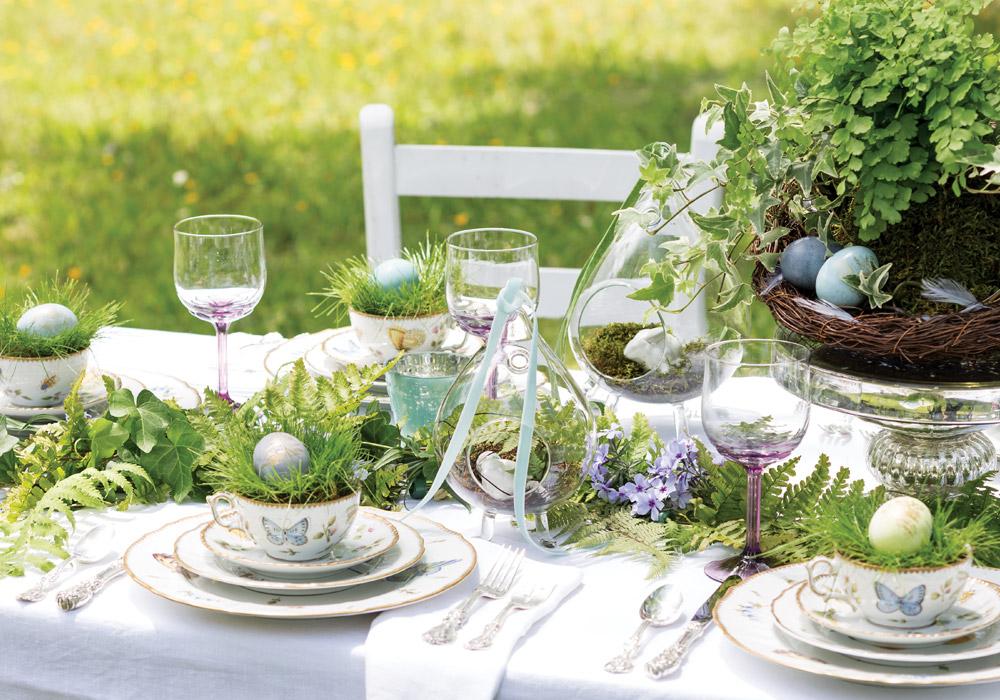 Décoration de table de dîner de Pâques