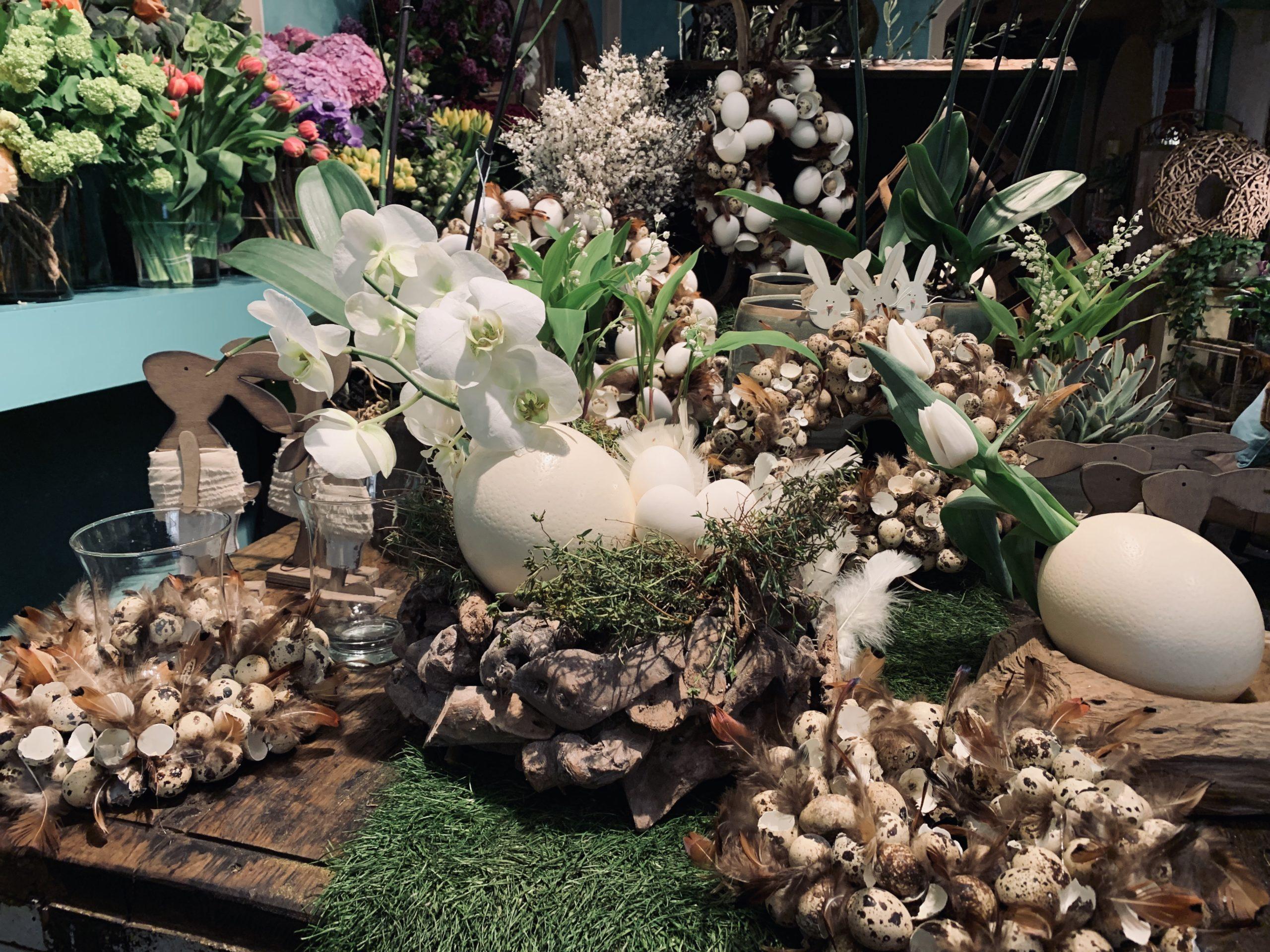 Belle décoration de jardin pour Pâques
