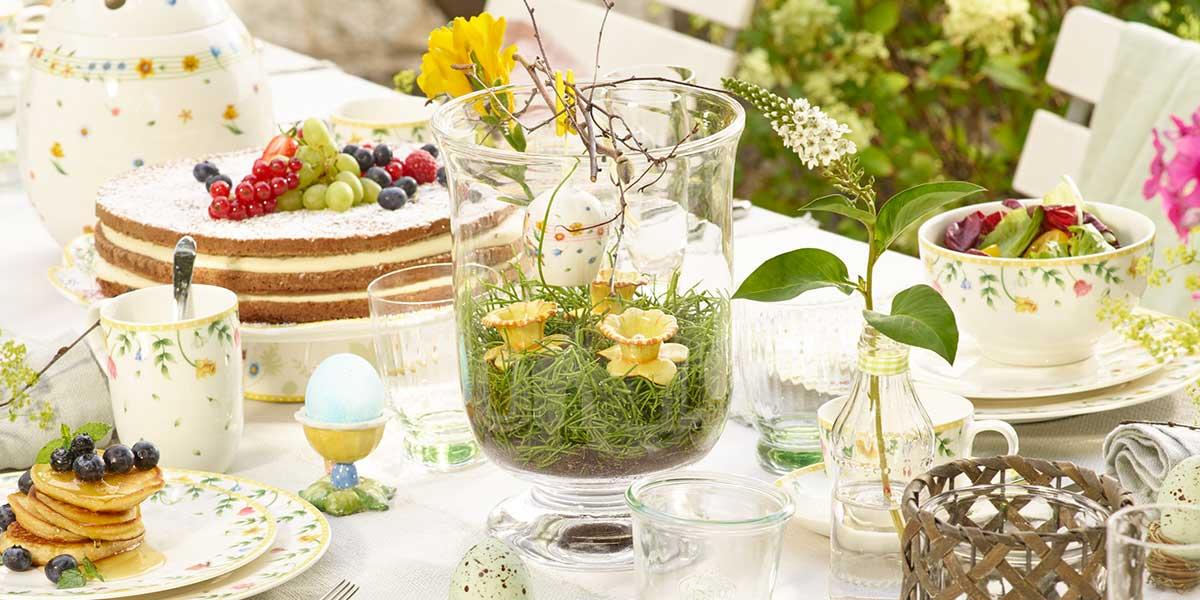 Une excellente idée pour la décoration de table de Pâques