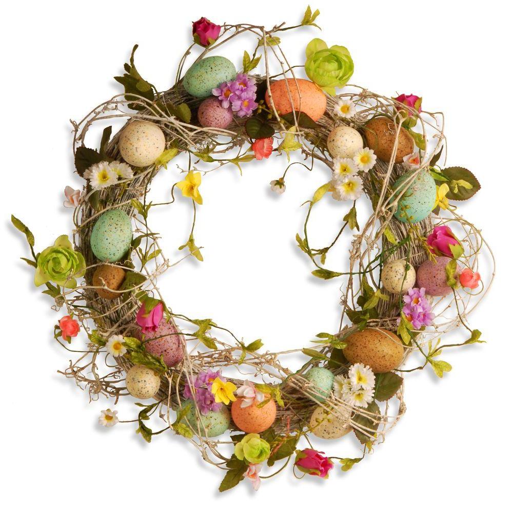 Une idée pour une couronne d'oeufs pour Pâques