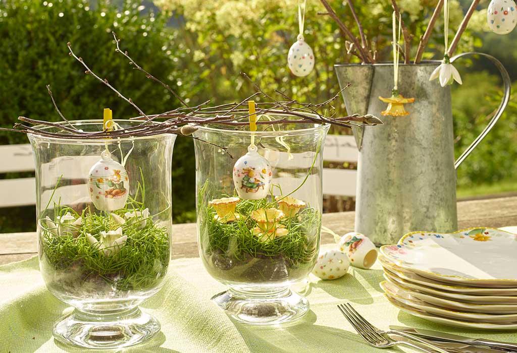Une idée pour décorer de vieilles coupes de Pâques