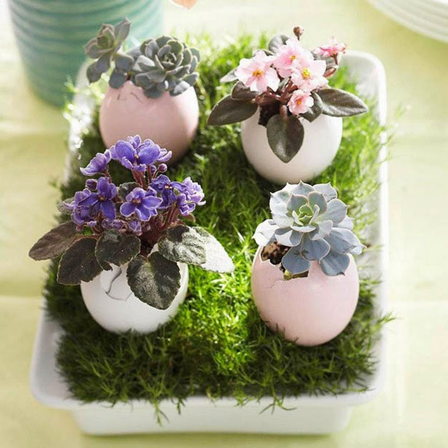 Décoration de Pâques florale.