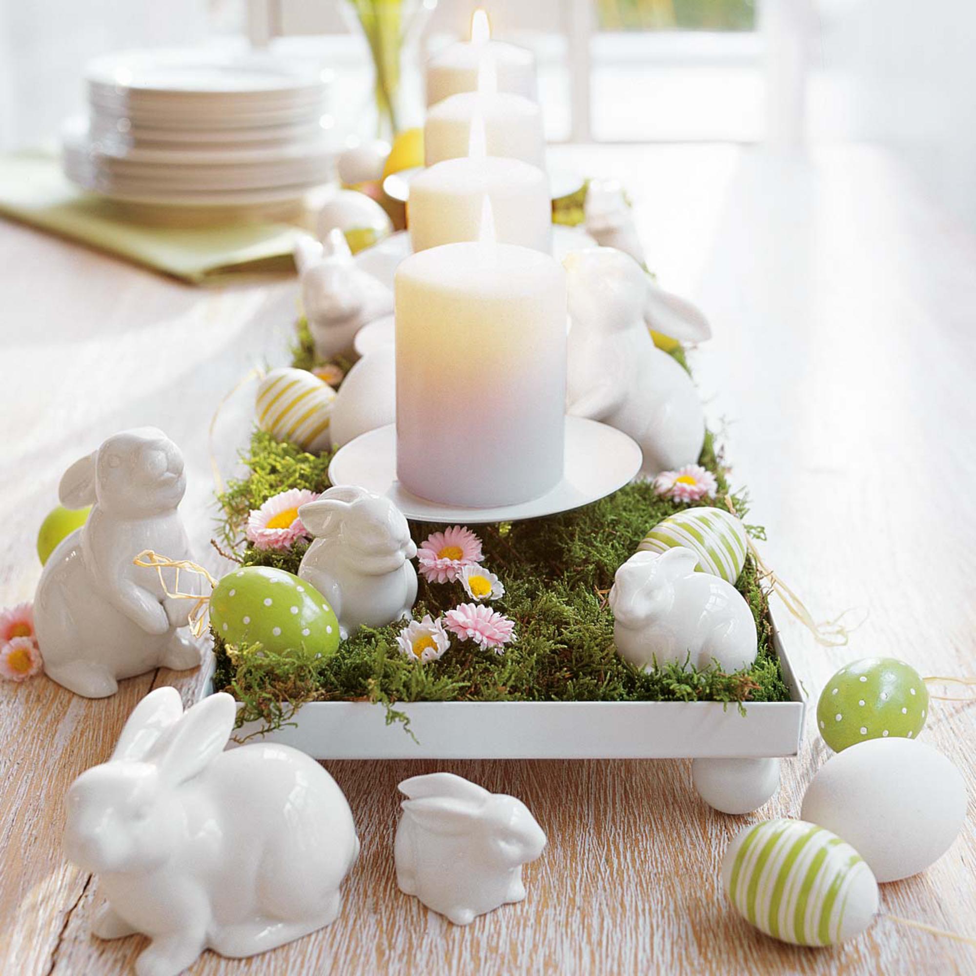 Décoration de Pâques - Décoration de table de vacances