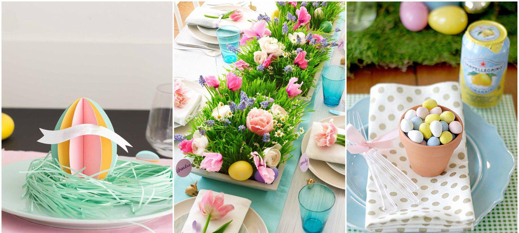 Décoration de Pâques - Décoration de table de printemps