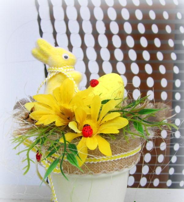 Décoration de Pâques - décoration de pot