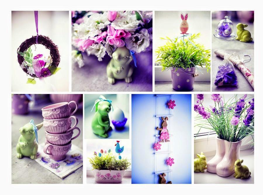 Décoration en violet pour Pâques