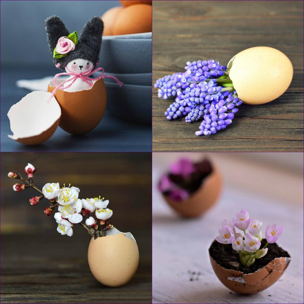 Décoration de coquille d'oeuf pour Pâques