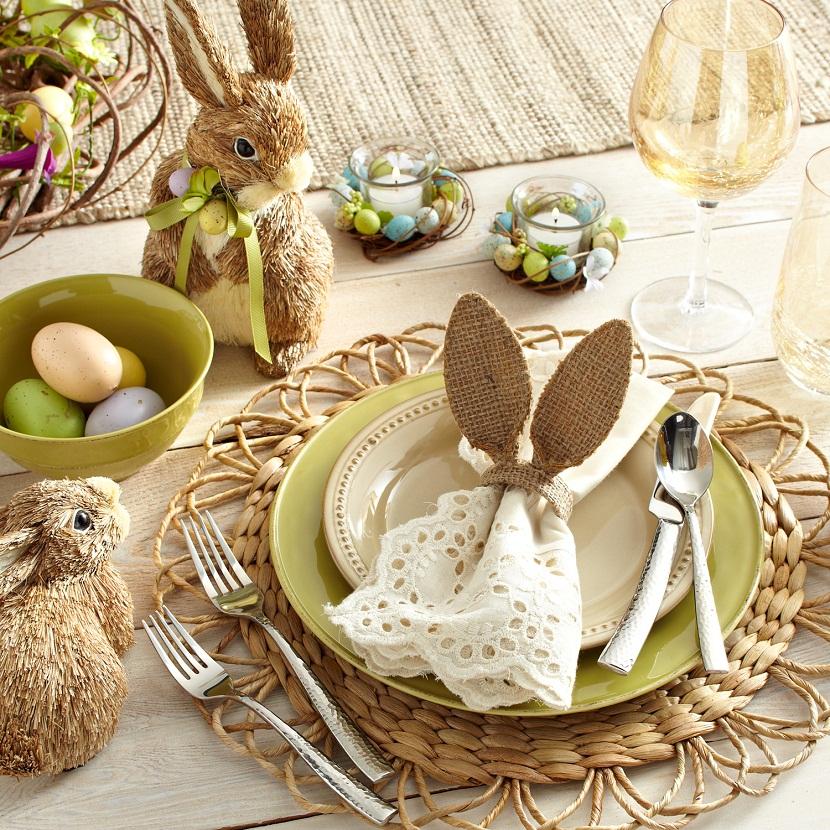 Décoration assiette de Pâques