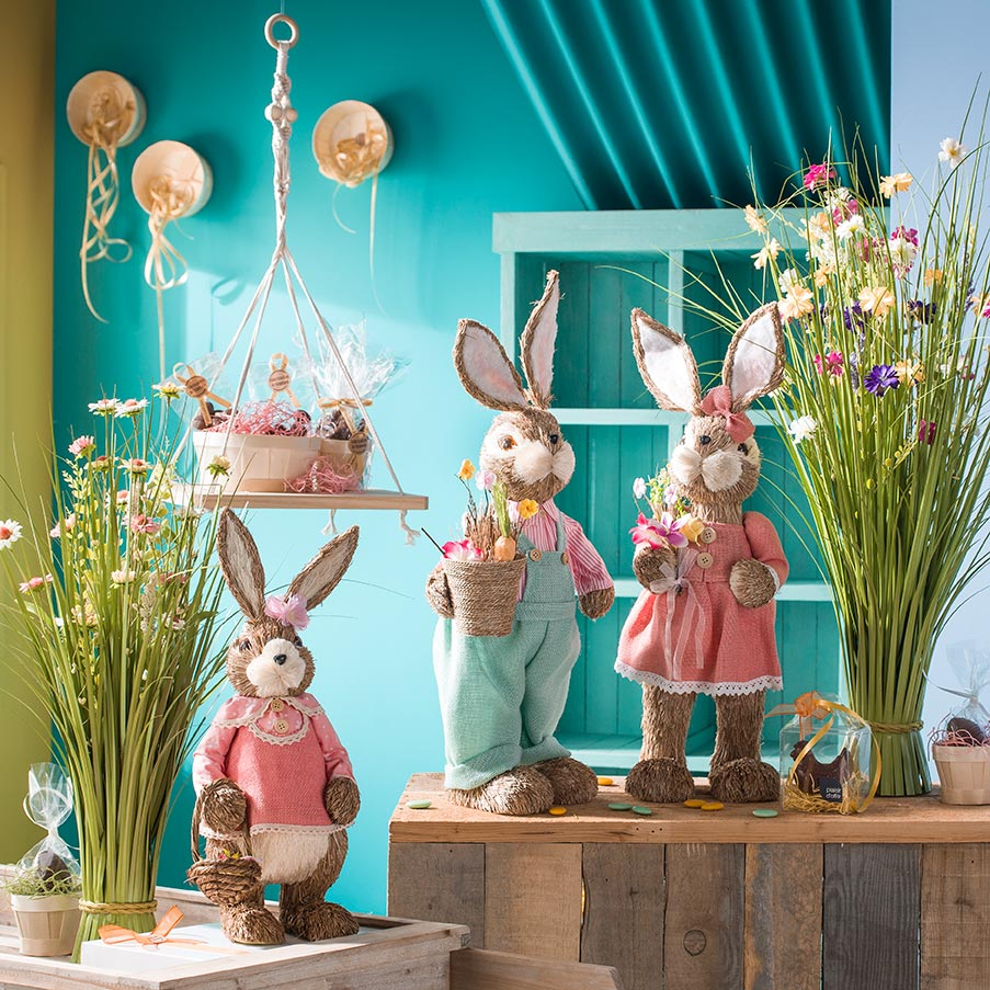 Décoration de lapin de Pâques