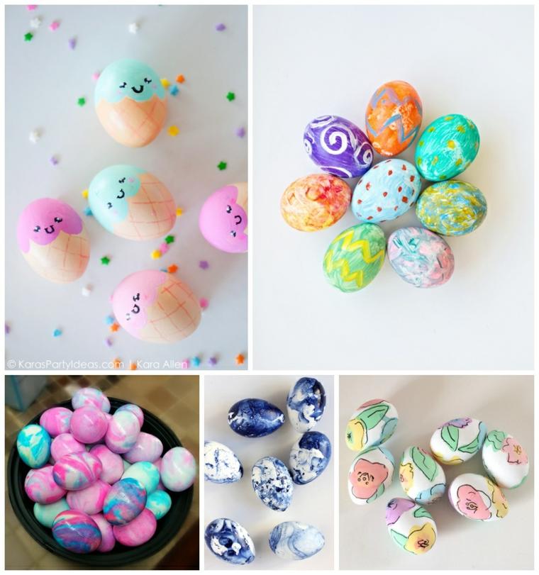 Décoration artistique d'oeufs pour Pâques
