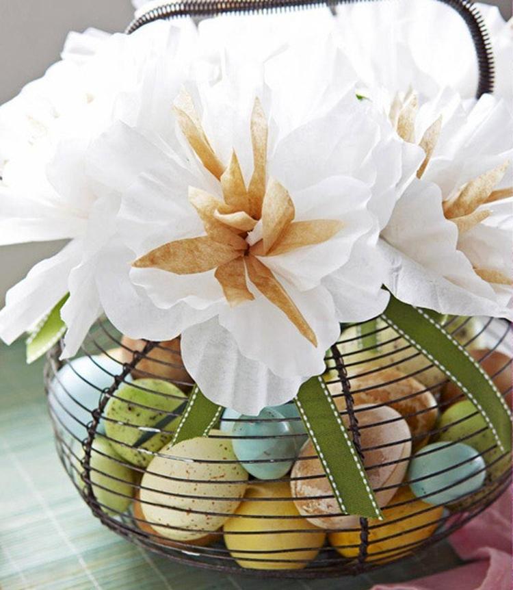 Décoration vase de fleurs de Pâques
