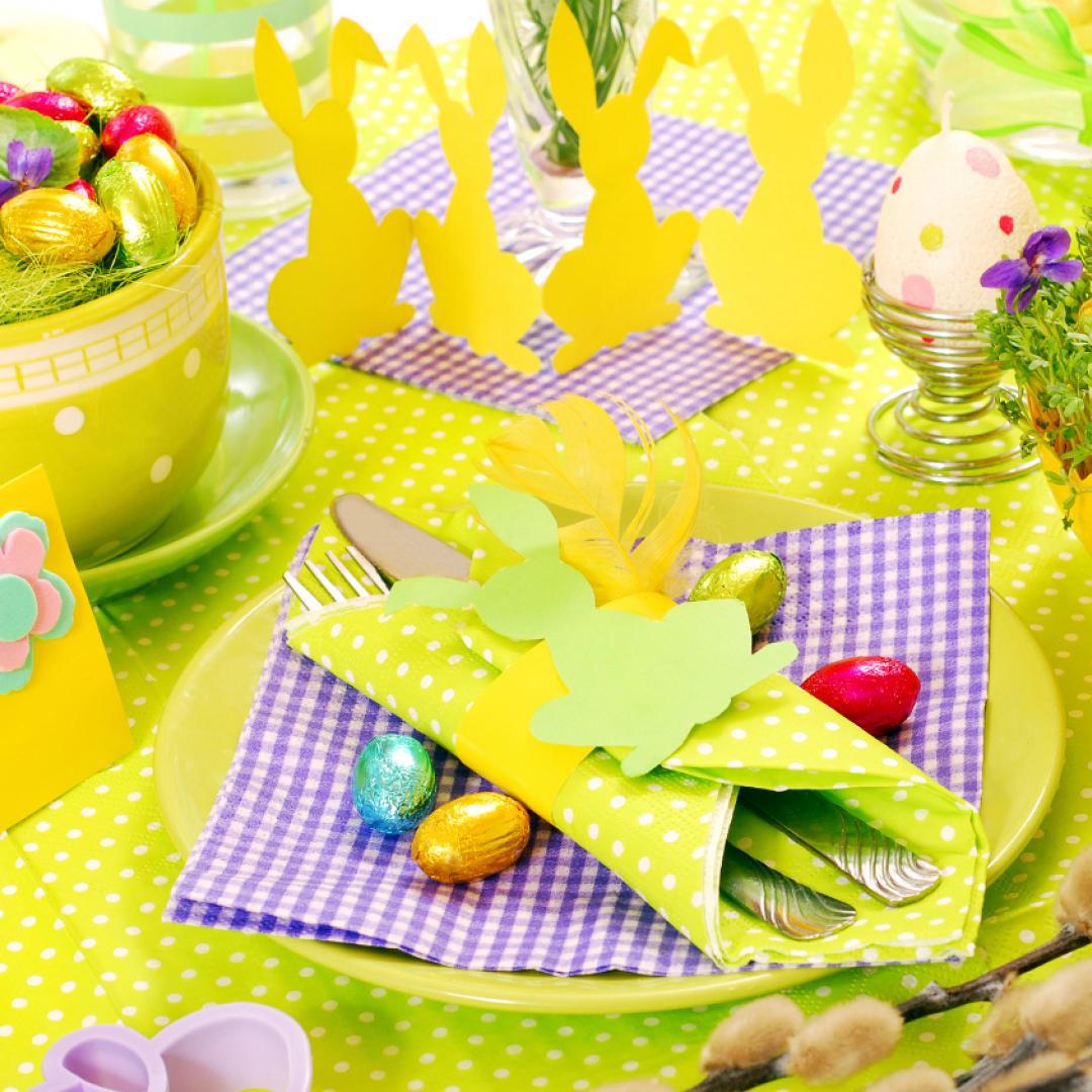 Décoration de Pâques - table pour enfants