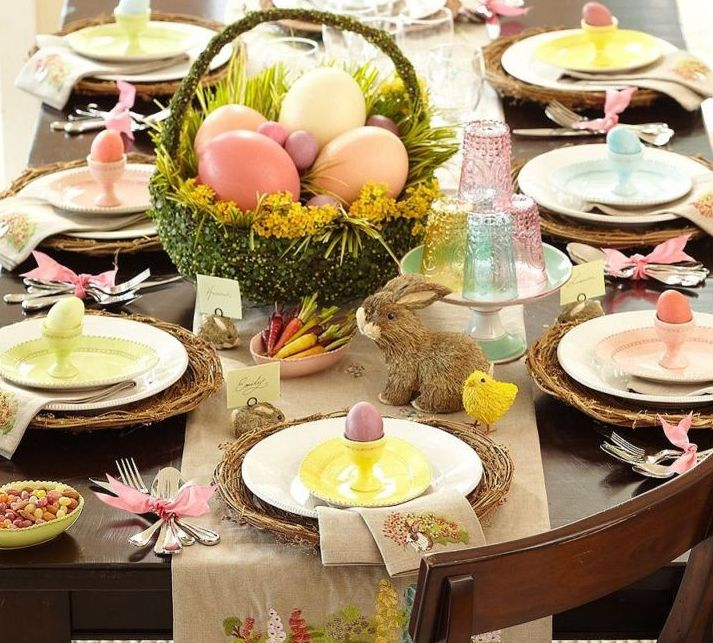 Décoration de Pâques - table des fêtes