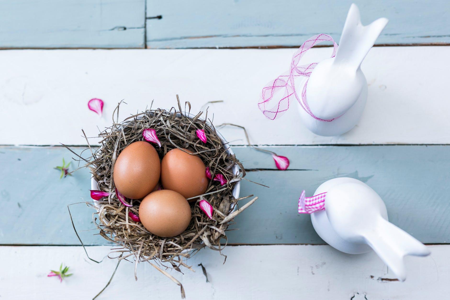 Décoration de Pâques - Décoration de table lapin