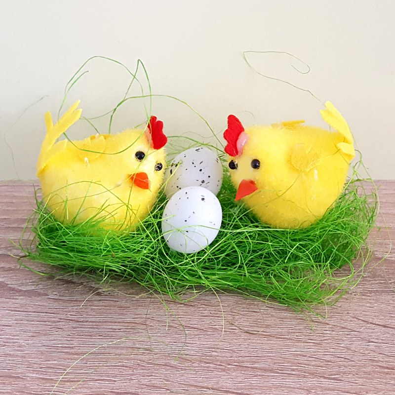 Décoration de Pâques - Décoration poulet et oeufs